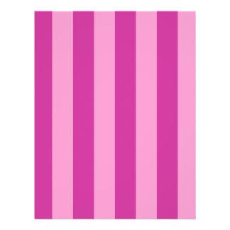 Pink and Red-violet Stripes 21.5 Cm X 28 Cm Flyer