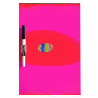 Pink and Red with Egg Abstract design Dry-Erase Whiteboard