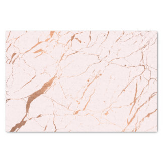 Pink and Rose Gold Marble Designer Tissue Paper