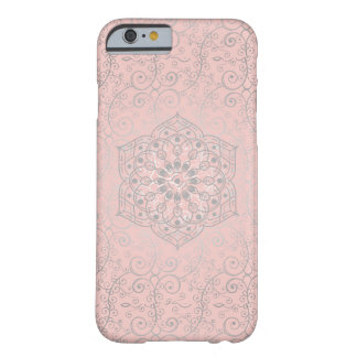 Pink and Silver Boho Style Swirled Pattern Barely There iPhone 6 Case