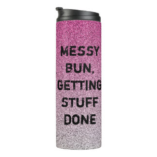 pink and silver glitter ombre tumbler, mom gift thermal tumbler
