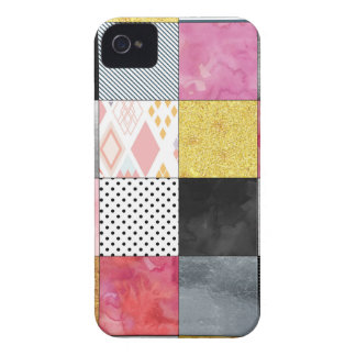 Pink and Silver Quilt Case-Mate iPhone 4 Cases