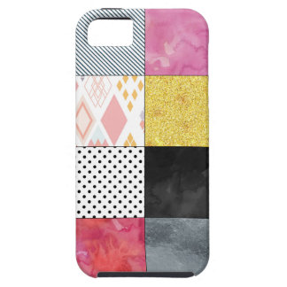 Pink and Silver Quilt iPhone 5 Case