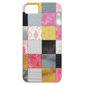 Pink and Silver Quilt iPhone 5 Covers