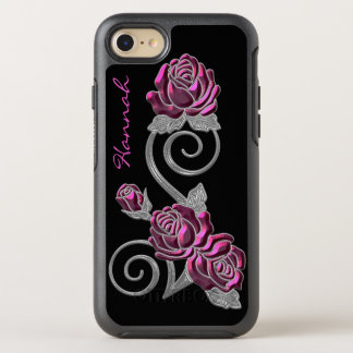 Pink and Silver Roses Otterbox iPhone 6S