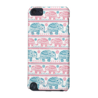 Pink And Teal Ethnic Elephant Pattern iPod Touch 5G Cover