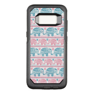 Pink And Teal Ethnic Elephant Pattern OtterBox Commuter Samsung Galaxy S8 Case