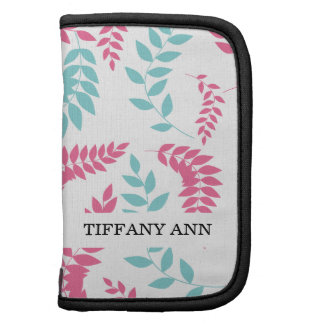 Pink and Teal Fern Foliage Pattern Organizer