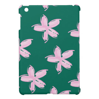 Pink and Teal Floral Pattern iPad mini Case