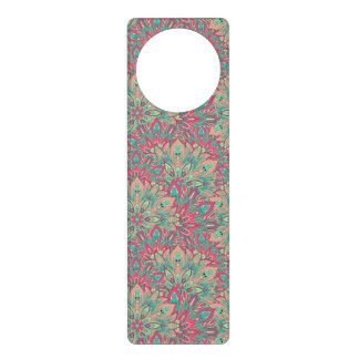Pink and Teal mandala pattern. Door Hanger