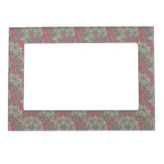 Pink and Teal mandala pattern. Magnetic Picture Frame