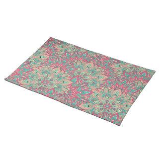 Pink and Teal mandala pattern. Placemat