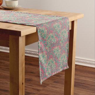 Pink and Teal mandala pattern. Short Table Runner