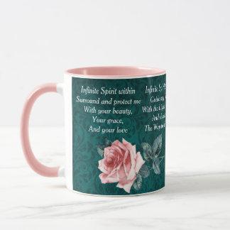 Pink and Teal Morning Prayer Mug