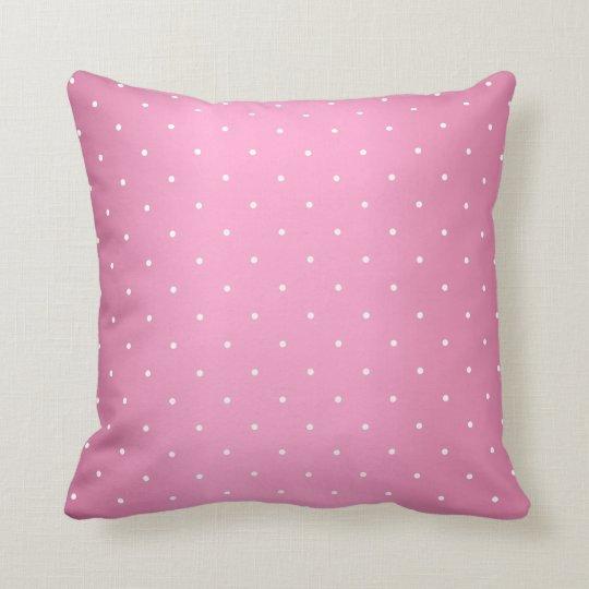 Pink and Tiny White Polka Dots Cushion