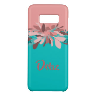 Pink and Turqoise Tropical Flower   Personalized Case-Mate Samsung Galaxy S8 Case