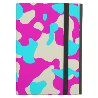 Pink and Turquoise Camouflage iPad Case