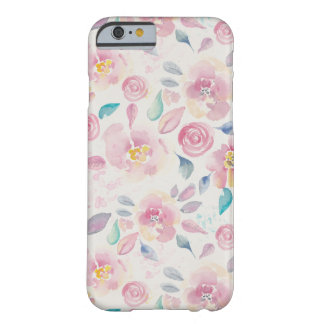 Pink and Turquoise Floral pattern Barely There iPhone 6 Case