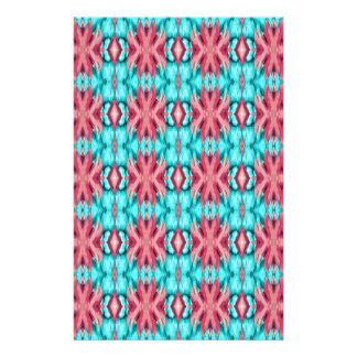 Pink and Turquoise Starfish Pattern Stationery Design