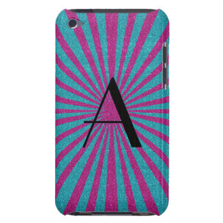 Pink and turquoise sunburst monogram iPod touch Case-Mate case