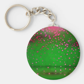 Pink And Violet Flickering Lights Basic Round Button Key Ring