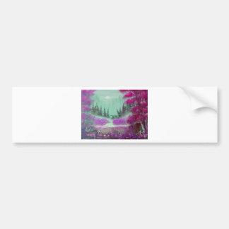 Pink and Violet  Mist Bumper Sticker