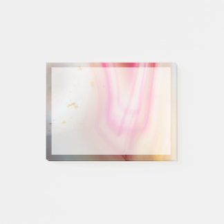 Pink and White Agate Post-it Notes