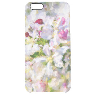 Pink and White Apple Blossoms Clear iPhone 6 Plus Case