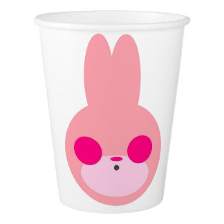 Pink and White Bunny Party Cups