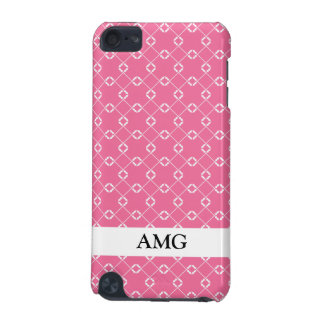 Pink and White Cage Vines Pattern iPod Touch 5G Cases