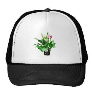 Pink and White Calla Lilies Mesh Hats
