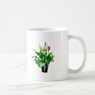 Pink and White Calla Lilies Coffee Mug