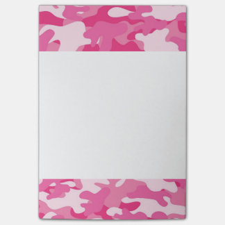 Pink and White Camo Design Post-it® Notes