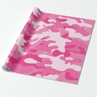 Pink and White Camo Design Wrapping Paper