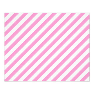 Pink and White Candy Stripes. Flyers