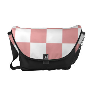 Pink and White Checker Pattern Courier Bags
