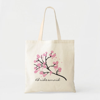 Pink and White Cherry Blossom Floral Bridesmaid