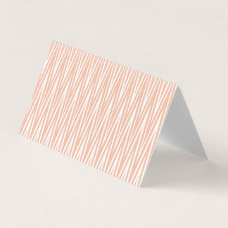 Pink and White Chevron Blank Greeting Cards