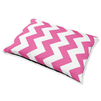 Pink And White Chevron Pattern Dog Bed