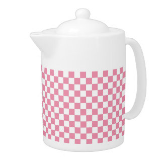 Pink And White Classic Retro Checkered Pattern
