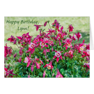 Pink and White ColumbineBlossoms and Buds Card