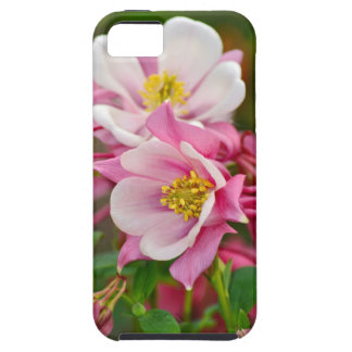 Pink and white columbine flowers print iPhone 5 case