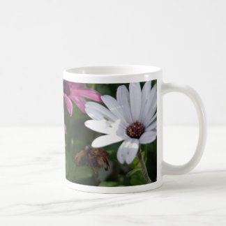 Pink and White Daisies Basic White Mug