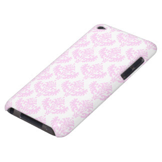 Pink and White Damask Pattern iPod Touch Covers
