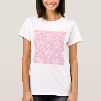 Pink and White Damask T-Shirt