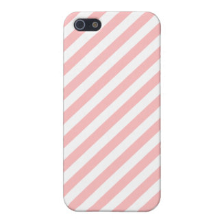 Pink and White Diagonal Stripes Pattern Case For The iPhone 5