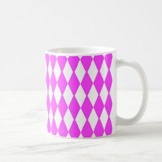 Pink And White Diamonds Coffee Mug