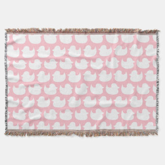 Pink and White Duck Pattern