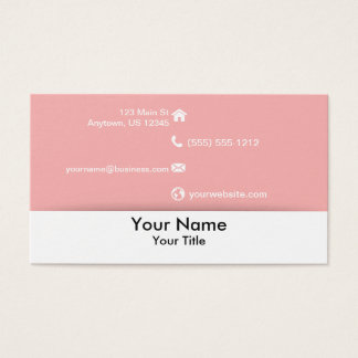 Pink and White Floral Business Card