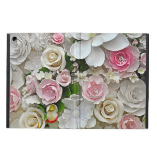 Pink and white floral print cover for iPad air